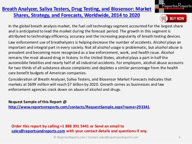 global alcohol detection breath analyzers market [170 pages report] breath analyzers market report categorizes the global market   based on applications, the market is categorized into alcohol detection, drug.