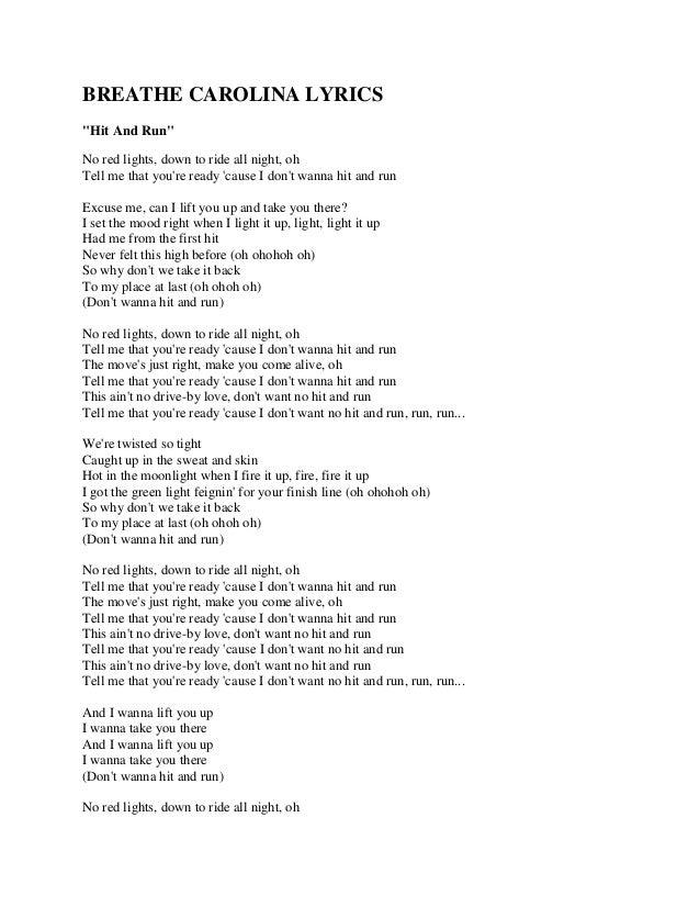 Breathe carolina lyrics