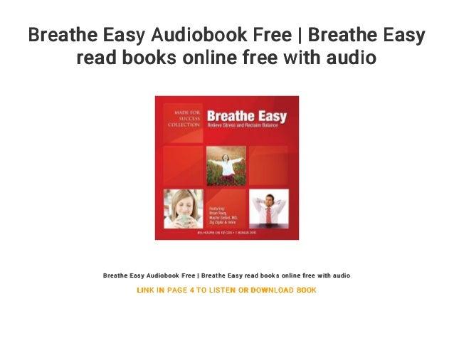 Breathe Easy Audiobook Free Breathe Easy Read Books Online