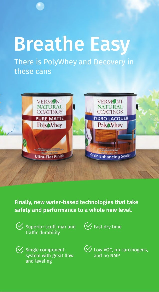 Breathe Easy There is PolyWhey and Decovery in these cans Finally, new water-based technologies that take safety and perfo...