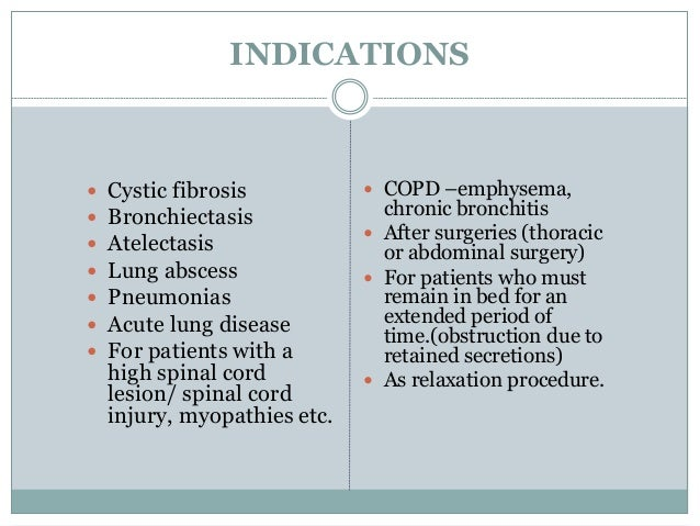  Anticoagulation  Rib or vertebral fractures or osteoporosis  Acute asthma or tuberculosis  Patients who have recently...