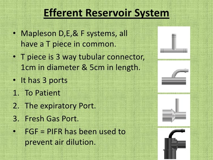 Lack – tested same as for Mapleson A with testing integrity of inner tube. <br />ET tube is attached to inner tube & valve...