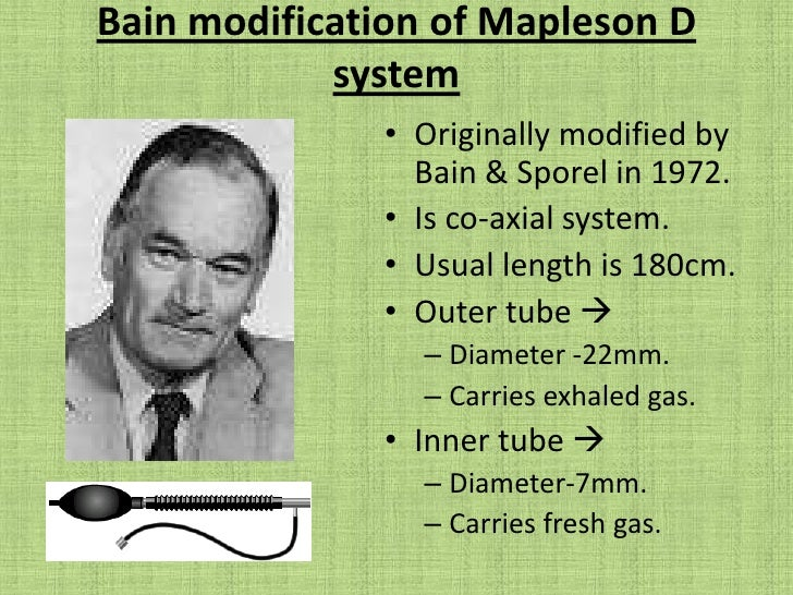 Mapleson B system<br />This circuit functions similarly during both spontaneous & controlled ventilation.<br />FGF > 2x Mi...