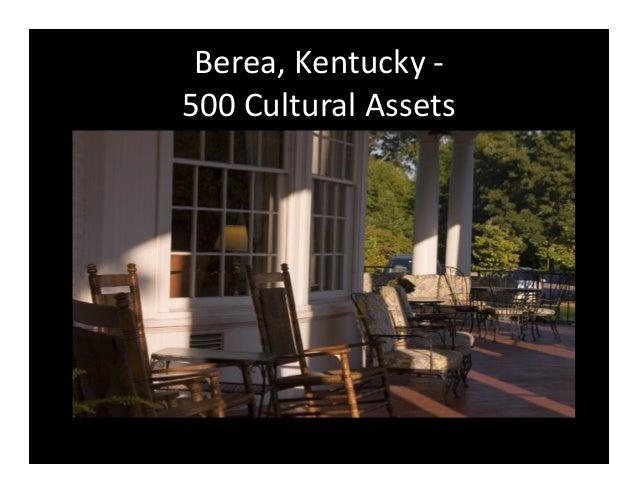 Berea Kentucky 500 Cultural Assets
