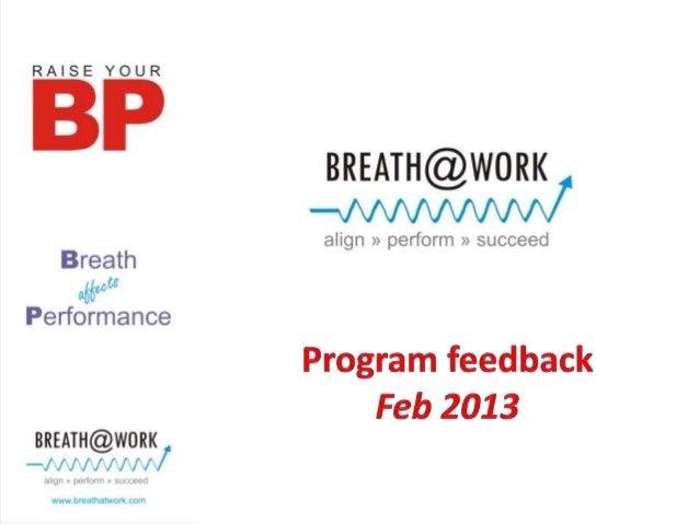 Breath@work program feedback feb'13
