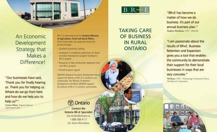 Business Retention and Expansion Brochure