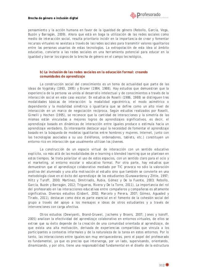 Brecha de género e inclusión digital  pensamiento y la acción humana en favor de la igualdad de género (Rebollo, García, V...