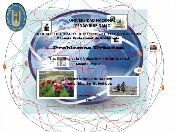 """UNIVERSIDAD NACIONAL  """"PEDRO RUIZ GALLO"""" Facultad de Ciencias Histórico Sociales y Educación Escuela Profesional de Sociol..."""
