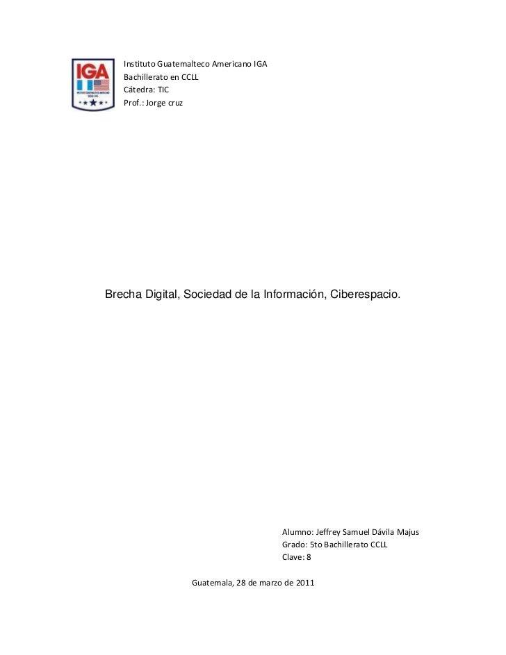 15240-4445                          Instituto Guatemalteco Americano IGA<br />                          Bachillerato en CC...