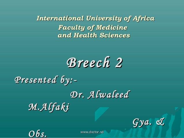 International University of AfricaInternational University of Africa Faculty of MedicineFaculty of Medicine and Health Sci...