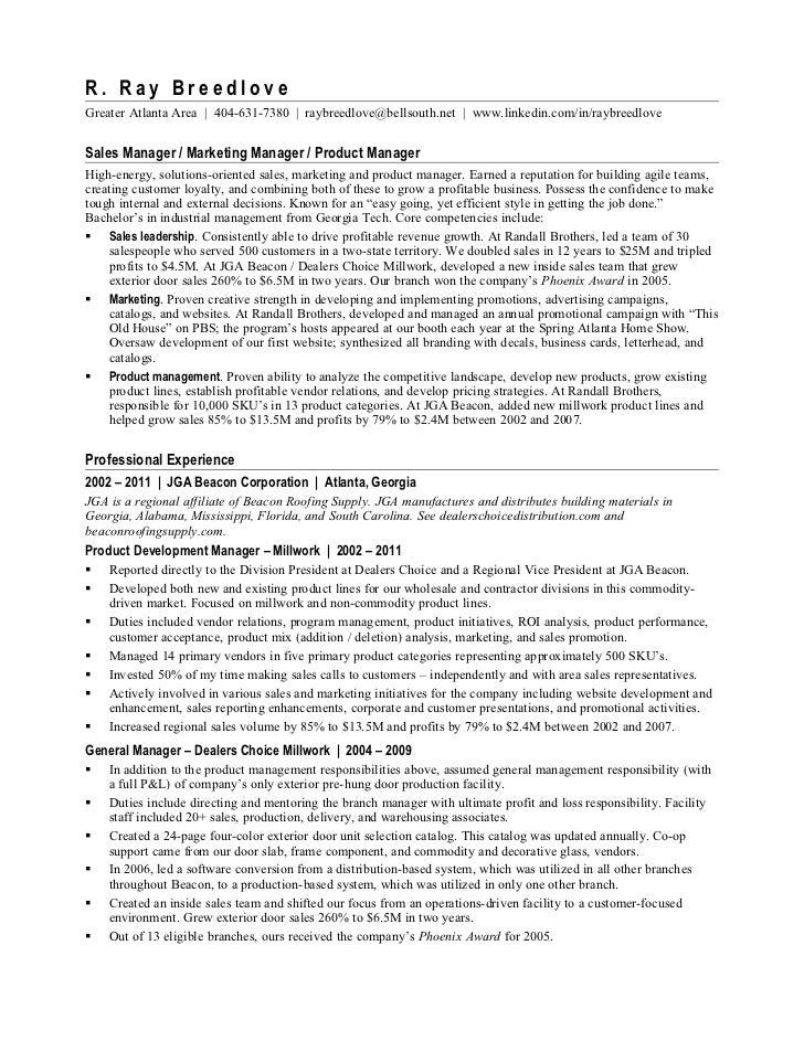 resume ray breedlove