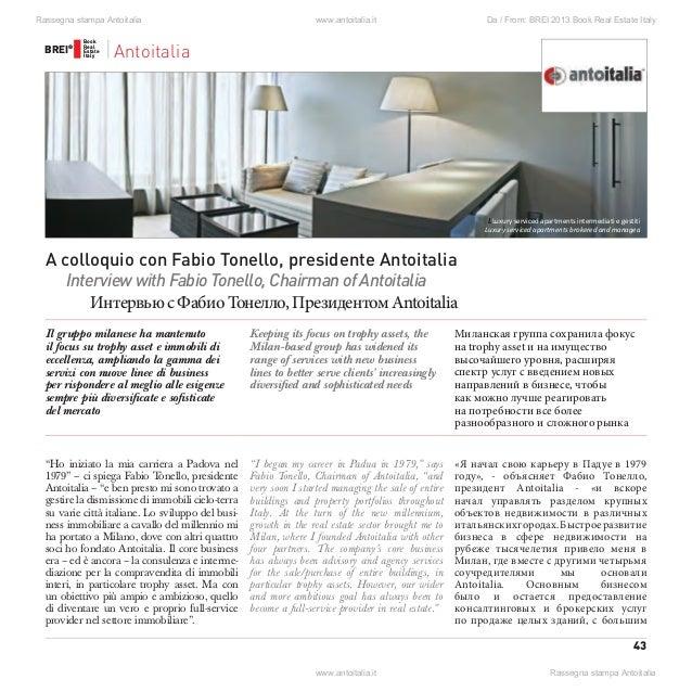 43 BREI® BREI® Book Real Estate Italy Book Real Estate Italy Domanda russo? Testo risposta russo Domanda inglese? Testo ri...