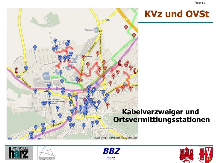 Folie 15               KVz und OVSt          Kabelverzweiger und    Ortsvermittlungsstationen    BBZ Harz