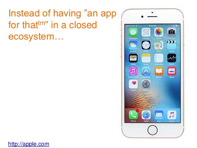 """http://apple.com Instead of having """"an app for thattm"""" in a closed ecosystem…"""
