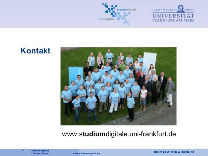 Kontakt www.s tudium digitale.uni-frankfurt.de