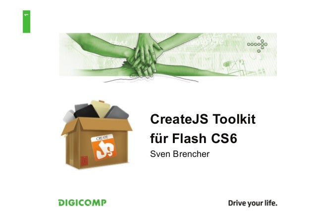 1    CreateJS Toolkit    für Flash CS6    Sven Brencher