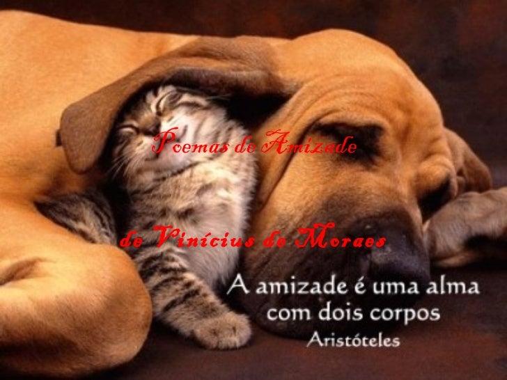 Poemas de Amizade de Vinícius de Moraes