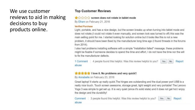 Fault Finder: Identifying Laptop Failures from Amazon Reviews Slide 3