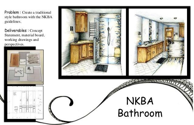 Nkba bathroom guidelines for Bathroom design portfolio