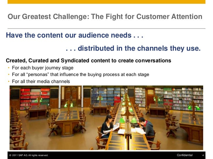 Our Greatest Challenge: The Fight for Customer AttentionHave the content our audience needs . . .                         ...