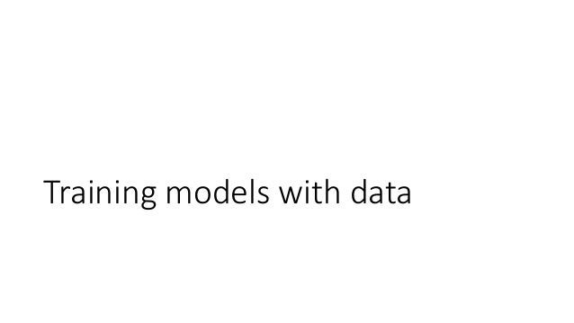 Training models with data