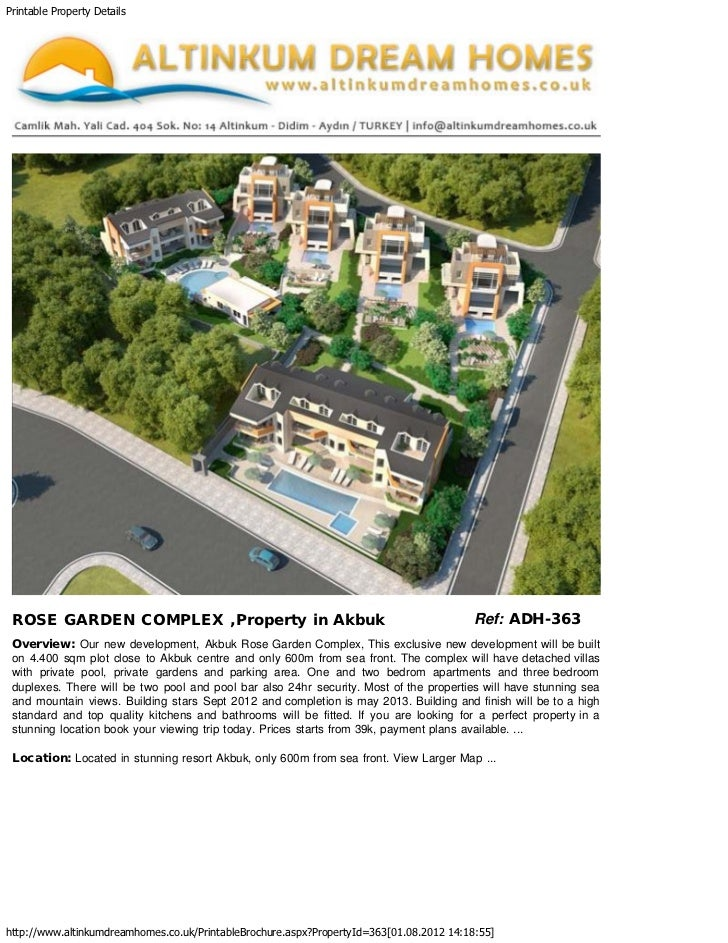 Printable Property Details   ROSE GARDEN COMPLEX ,Property in Akbuk                                                   Re...