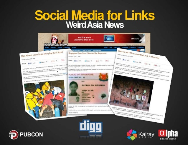 Social Media for Links  Really drove the growth of Social Media Marketing  Linkbait  Controversy or Contests  Content ...