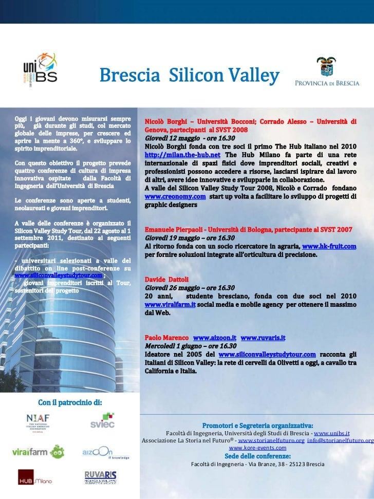 Brescia  Silicon Valley                                                            Oggi  i  giovani  devono  misur...