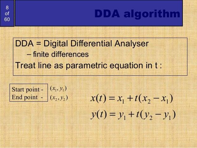 Digital Differential Analyzer Line Drawing Algorithm In Java : Bresenham circlesandpolygons