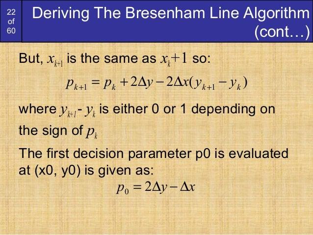Bresenham Line Drawing Algorithm Derivation : Bresenham circles and polygons derication