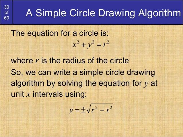 Bresenham Line Drawing Algorithm Solved Problems : Bresenham circles and polygons derication