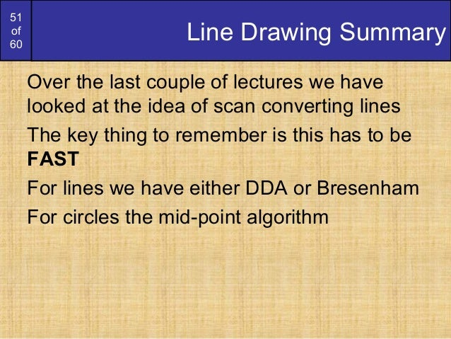 Bresenham Line Drawing Algorithm With Anti Aliasing : Bresenham circles and polygons derication