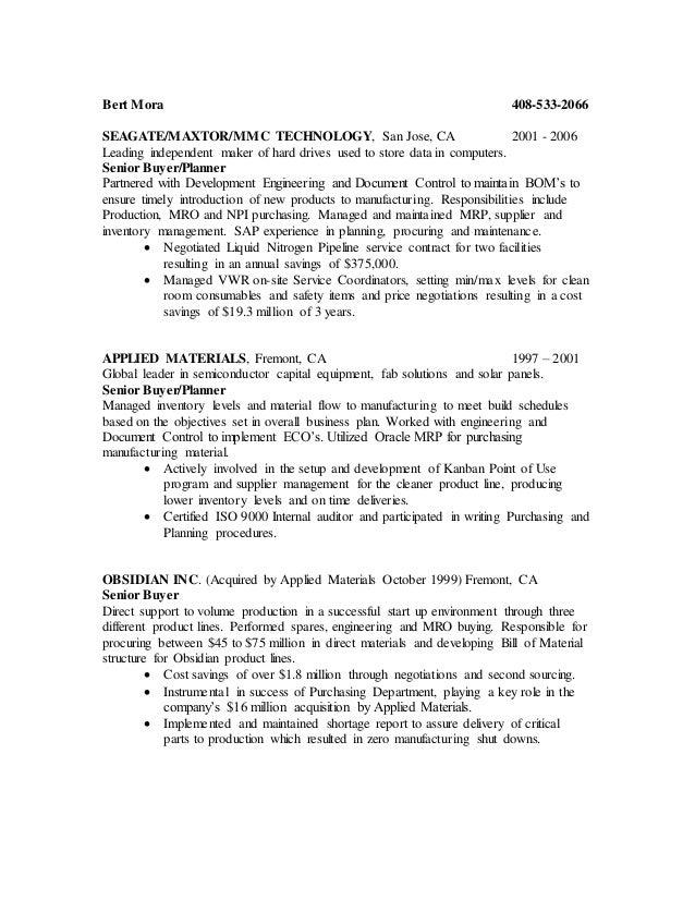 mro buyer resume