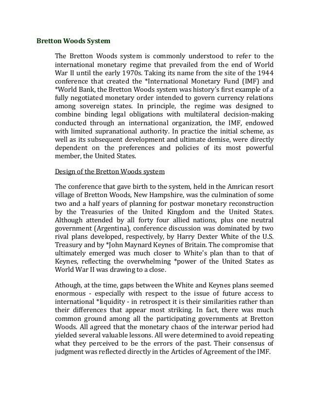 Bretton woods system 1 638gcb1397902197 bretton woods system the bretton woods system is commonly understood to refer to the international monetary platinumwayz