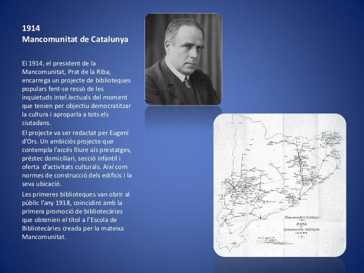 Breu història de la biblioteca pública a catalunya Slide 2