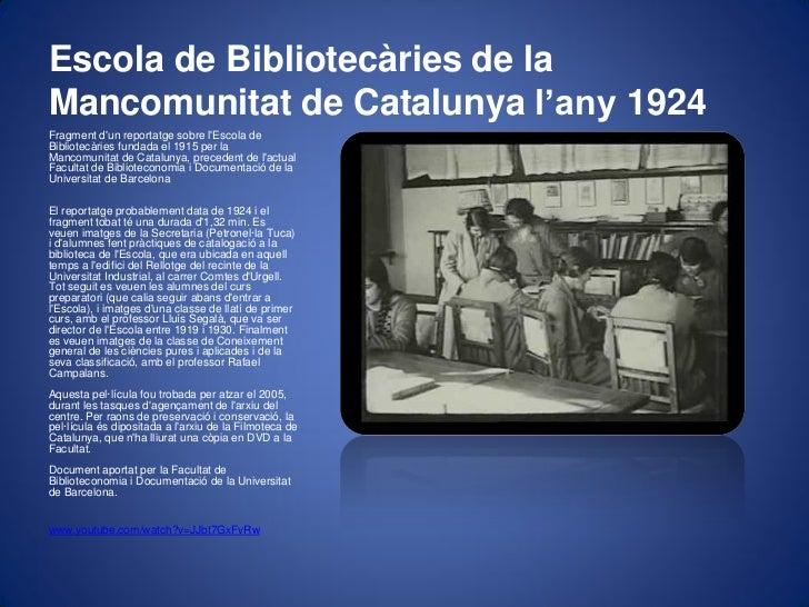 Breu història de la biblioteca pública a catalunya Slide 3