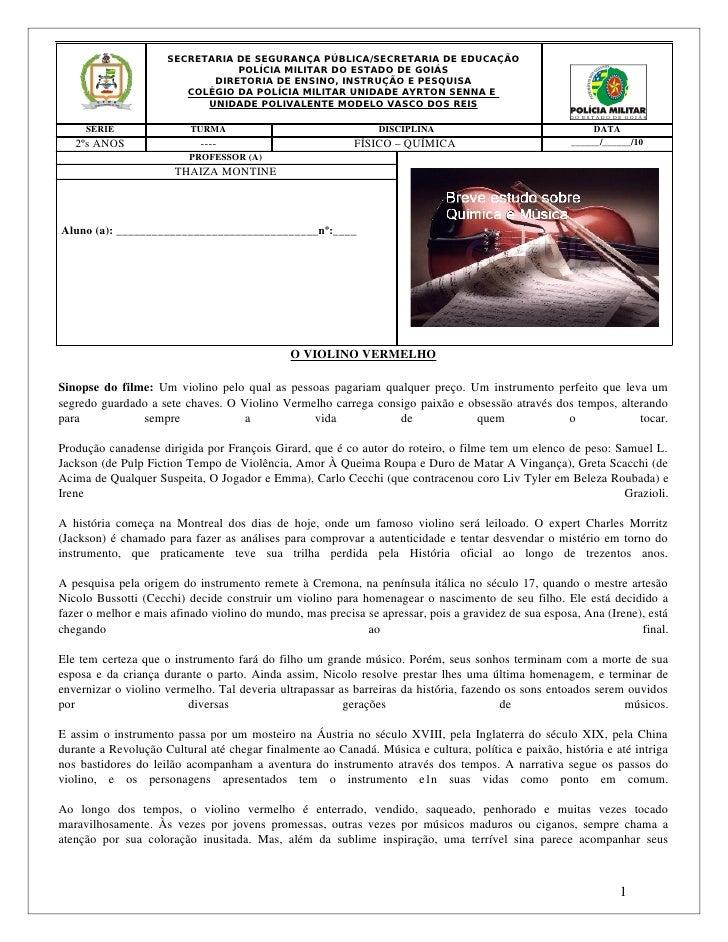 SECRETARIA DE SEGURANÇA PÚBLICA/SECRETARIA DE EDUCAÇÃO                                     POLÍCIA MILITAR DO ESTADO DE GO...