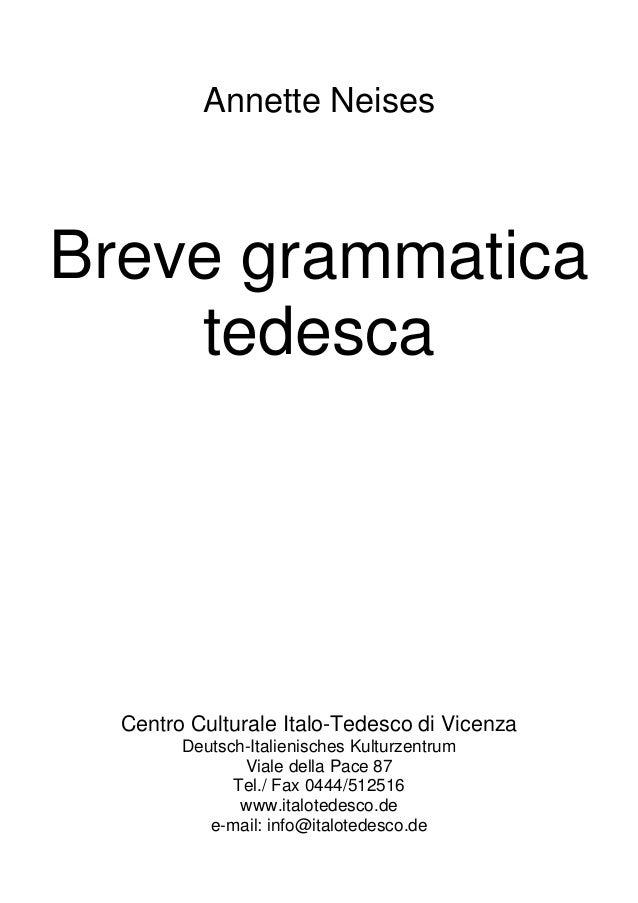 Breve Grammatica Tedesco 2 Annette Neises