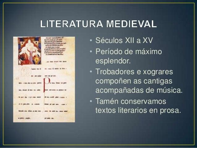 Breve historia da literatura galega Slide 2