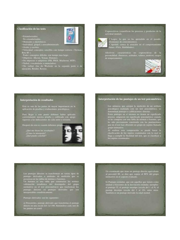 06/11/2011Clasificación de los tests                                                                          Cognoscitivo...