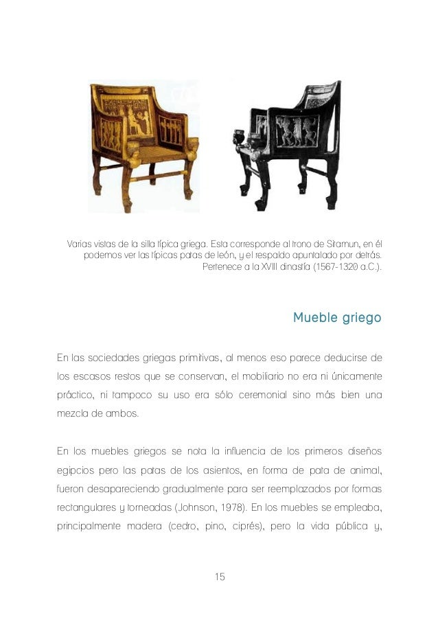 Breve historia del mueble for Historia del mueble pdf