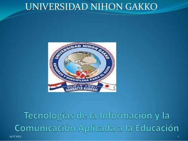 UNIVERSIDAD NIHON GAKKO14/1/2013                             1