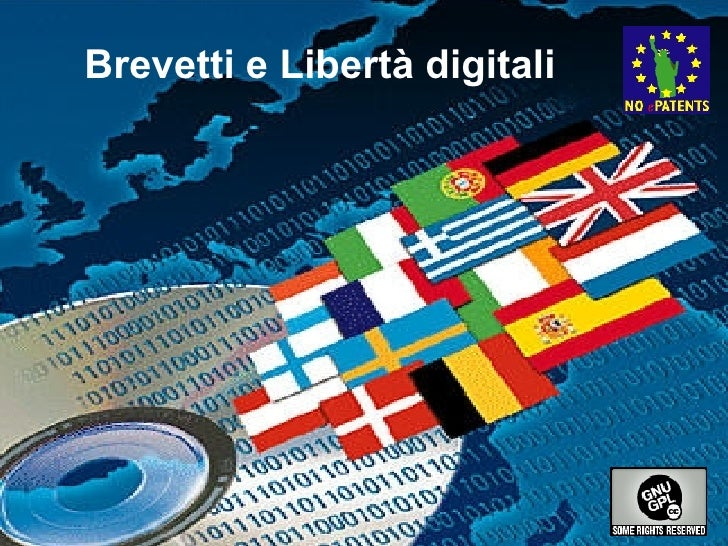 Brevetti e Libertà digitali