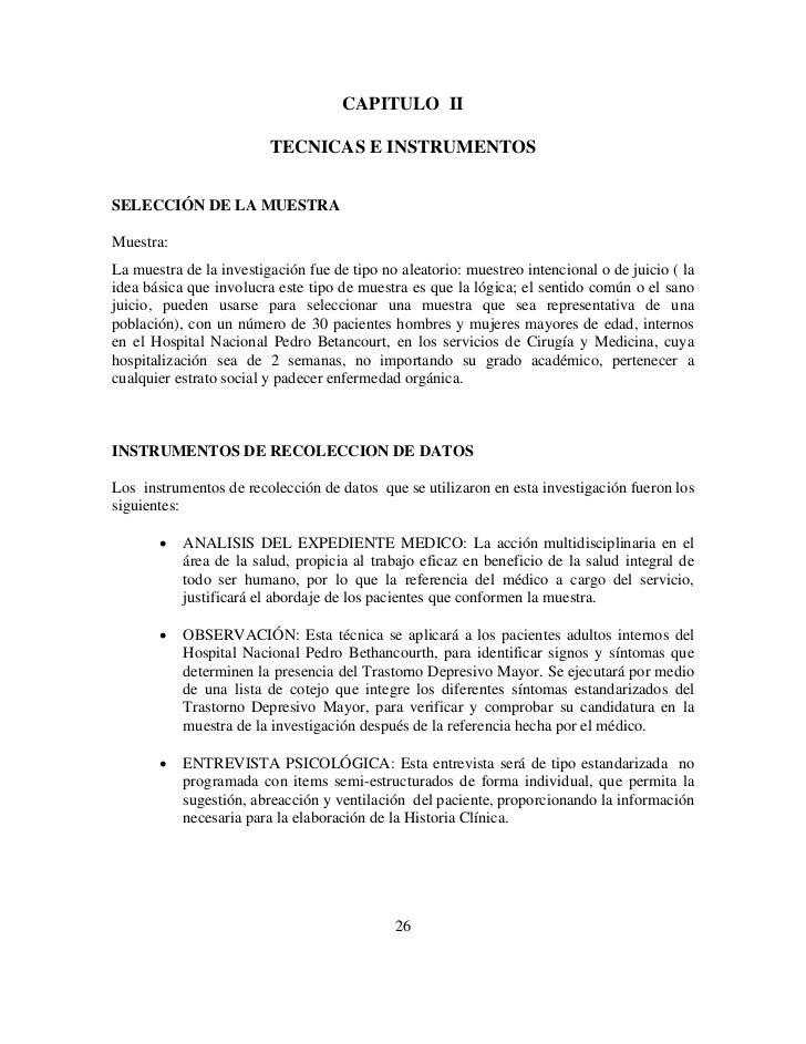 CAPITULO II                         TECNICAS E INSTRUMENTOSSELECCIÓN DE LA MUESTRAMuestra:La muestra de la investigación f...