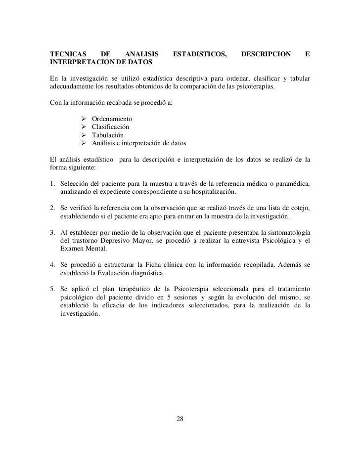 TECNICAS   DE    ANALISIS                    ESTADISTICOS,          DESCRIPCION            EINTERPRETACION DE DATOSEn la i...