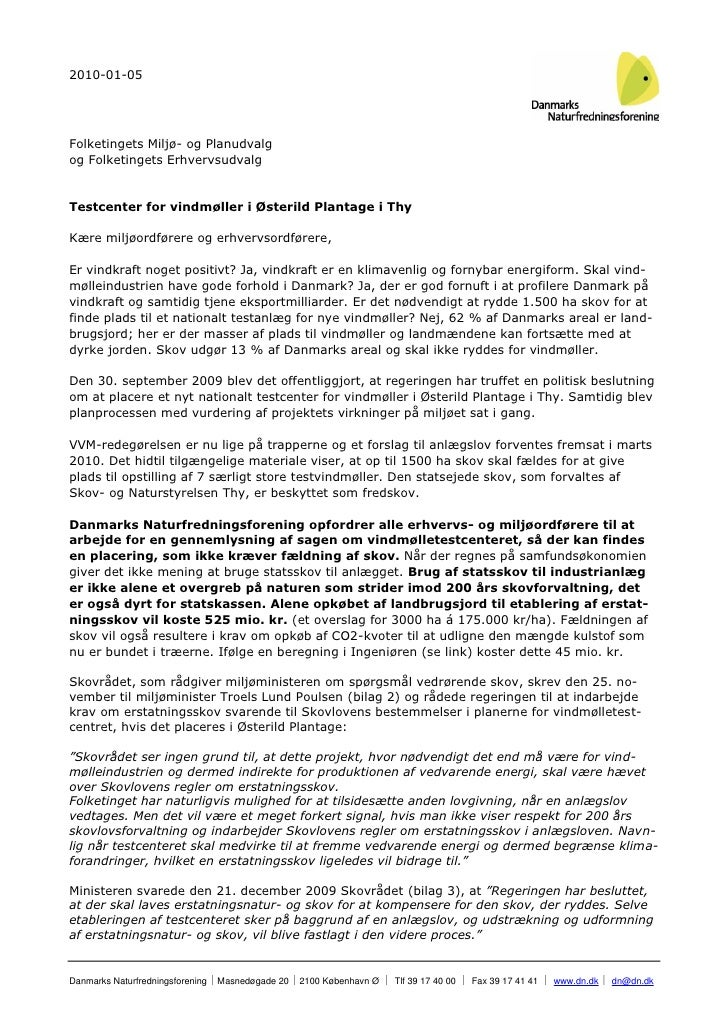 2010-01-05     Folketingets Miljø- og Planudvalg og Folketingets Erhvervsudvalg   Testcenter for vindmøller i Østerild Pla...