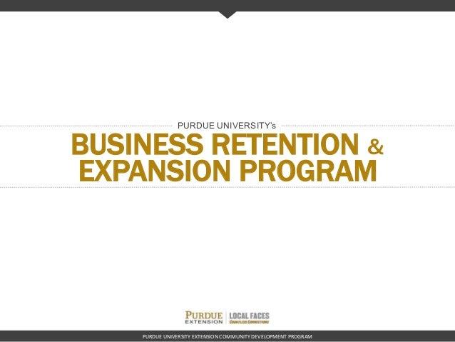Business retention expansion program purdue university extension community development program business retention expansion program purdue universitys toneelgroepblik Images