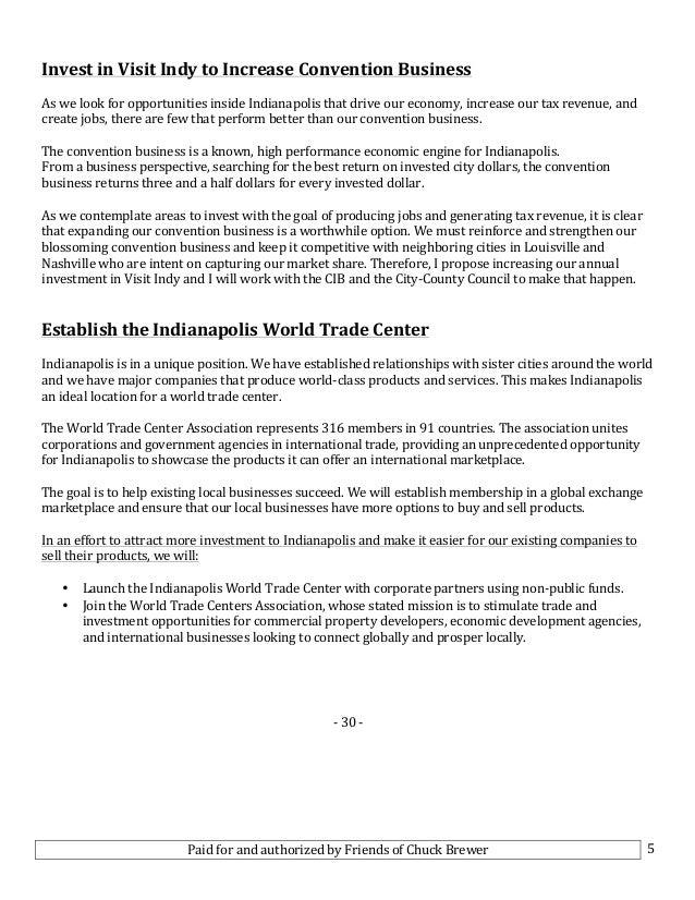 Brewer Unveils Economic Development Plan