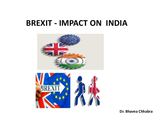BREXIT - IMPACT ON INDIA Dr. Bhavna Chhabra