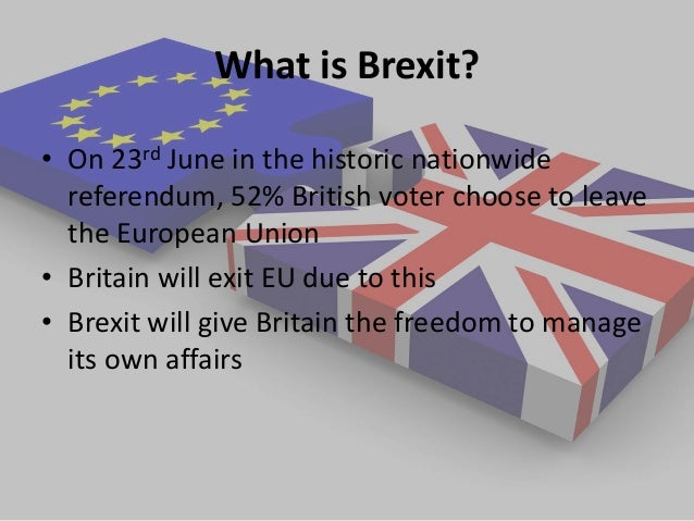 what is brexit about